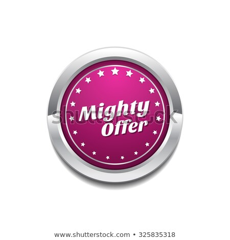 Mighty Offer Pink Vector Button Icon Stock photo © rizwanali3d