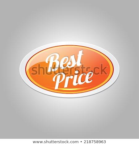 Mejor precio brillante circular vector botón Foto stock © rizwanali3d