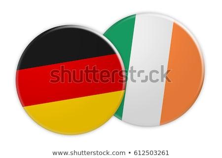 Германия Ирландия флагами головоломки изолированный белый Сток-фото © Istanbul2009
