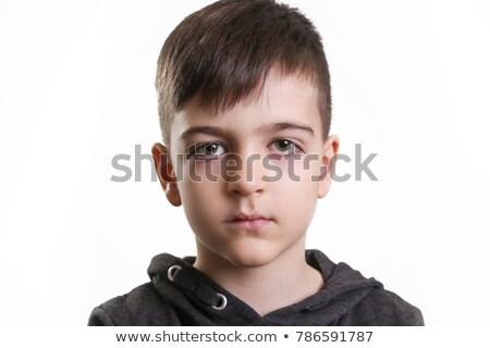 Fiatal srác bámul kamera üres tekintet fej vállak Stock fotó © ozgur