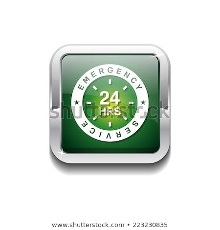 24 emergencia servicio verde vector icono Foto stock © rizwanali3d