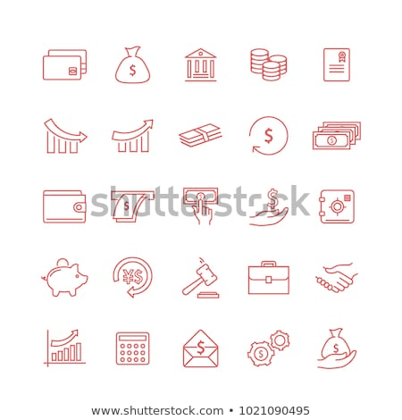 euro sign red vector icon design stock photo © rizwanali3d