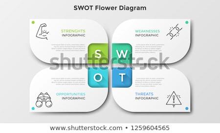 Foto stock: Modern Swot Analysis Diagram