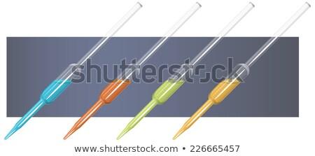 Kémia apparátus üveg gumi villanykörte orvosi Stock fotó © michaklootwijk