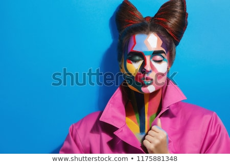 комического девушки волос улыбка моде красоту Сток-фото © tiKkraf69