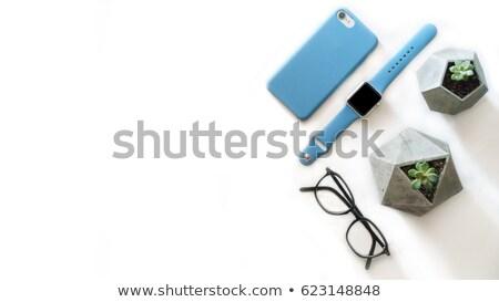 Immagine view occhiali smartphone vacanze Foto d'archivio © wavebreak_media