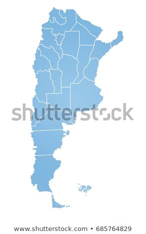Argentína vidék térkép város kék kép Stock fotó © alex_grichenko