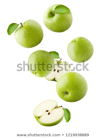 Bunch of green apples isloated on white. Stock photo © lithian