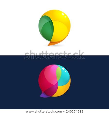 verde · vítreo · quebra-cabeça · ilustração · vetor - foto stock © bluering