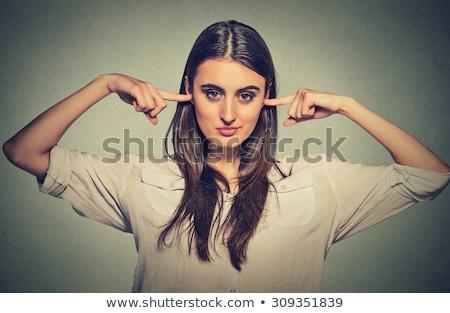 iş · kadını · kulaklar · iş · kız · güzellik - stok fotoğraf © zdenkam