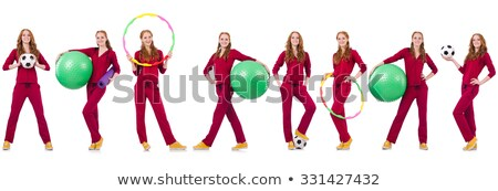 Woman with hula loop in sport concept Stock photo © Elnur