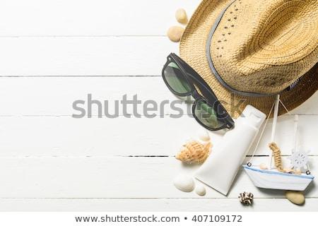 White sailboat in the sea. Summer season nature background stock photo © ankarb