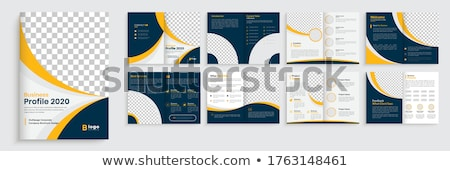 minimal company brochure template Stock photo © SArts