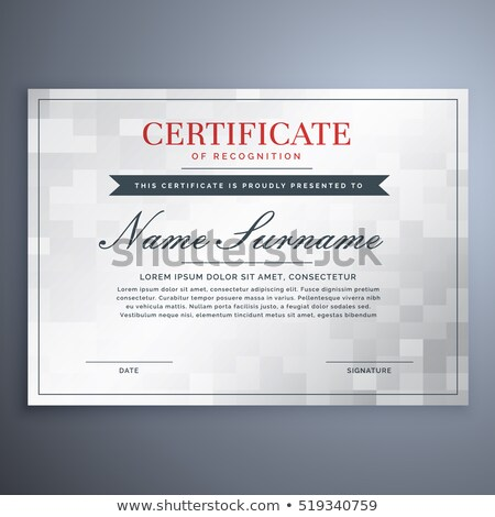 elegant certificate design with white and gray checker box Stock photo © SArts