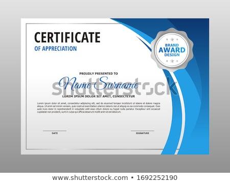 modern blue certificate and award design template stock photo © sarts