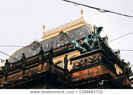 roof decorations of national theatre prague czech republic stock photo © kirill_m
