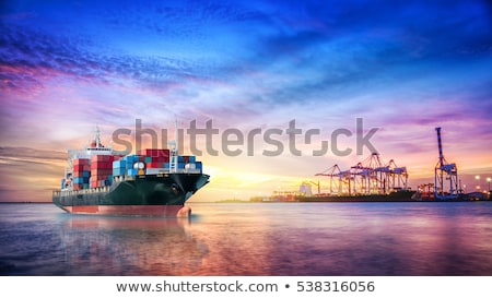 cruise · vrachtschip · horizon · hemel · achtergrond · oceaan - stockfoto © dreamframer