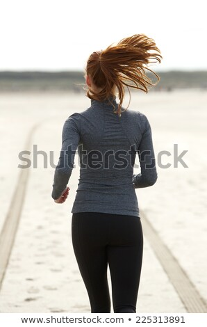 Achteraanzicht vrouw zand vergadering strand Stockfoto © wavebreak_media