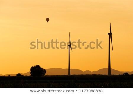 rüzgâr · hava · gündoğumu · vektör · siluet · dört - stok fotoğraf © 5xinc