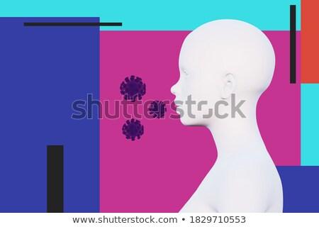 astma · zdrowia · diagnoza · schemat · zdrowych · niezdrowy - zdjęcia stock © tashatuvango