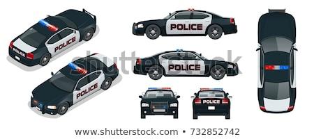 Isometrische politie auto 3D vector vervoer Stockfoto © Genestro