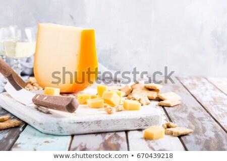 Kaas plakje gebroken witte achtergrond organisch Stockfoto © Digifoodstock
