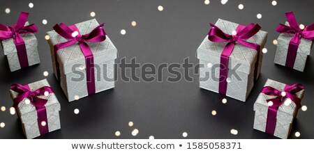 Christmas holidays ornament flat lay; Christmas card background  Stock photo © Konstanttin
