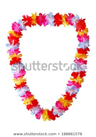 Polynesisch bloem ketting traditioneel houten zon Stockfoto © daboost