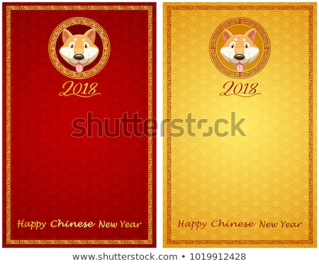 Two card template for chinese newyear Stock photo © bluering
