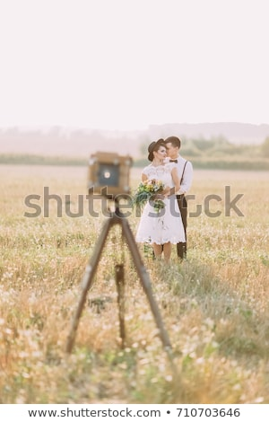портрет · молодые · морем · улыбка · свадьба - Сток-фото © is2