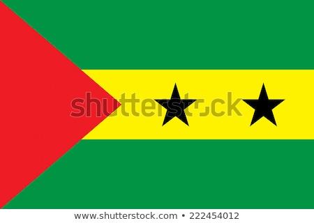 Sao Tome and Principe flag, vector illustration Stock photo © butenkow