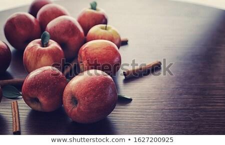 корицей · зеленый · яблоки · белый · ресторан · красный - Сток-фото © lidante