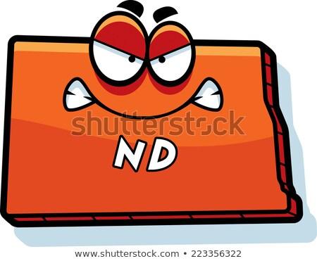 Cartoon Angry North Dakota Stock photo © cthoman