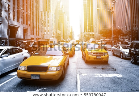 Geel · taxi · abstract · straat - stockfoto © boggy