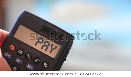 calculator with the word 2019 on the display stock photo © zerbor