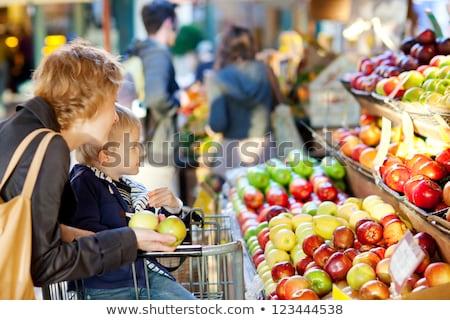 человека · торговых · Фермеры · рынке · Открытый · девушки - Сток-фото © artisticco
