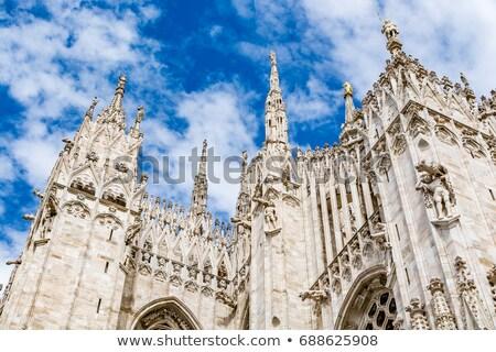 Pormenor milan céu edifício cidade arquitetura Foto stock © boggy