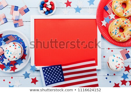 donut with star decoration on independence day Stock photo © dolgachov