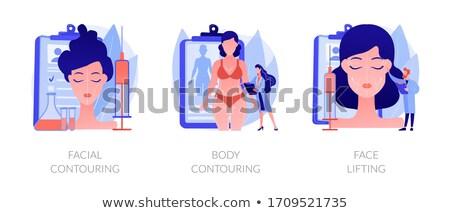 Facial contouring concept vector illustration. Stock photo © RAStudio