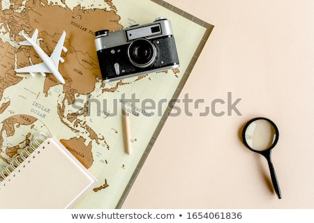 travel vacation accessories and photos stock photo © karandaev