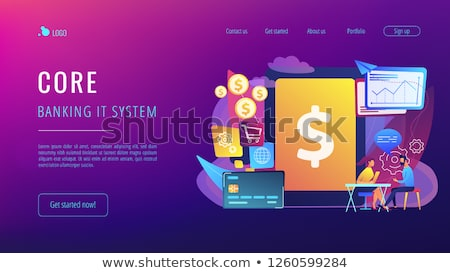 núcleo · bancário · comprimido · gerente · software - foto stock © rastudio