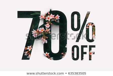 Foto stock: Verão · venda · por · cento · promo · cartaz