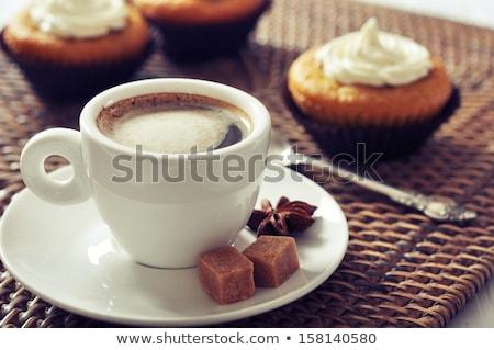 heerlijk · zoete · Valentijn · cookies · glas · kom - stockfoto © karandaev