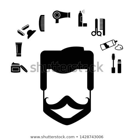 Makyaj berber adam sakal bakım posterler Stok fotoğraf © robuart