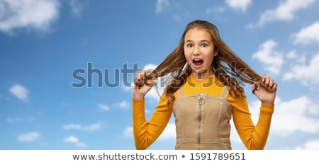 Güzel kız saç uzunluk güç Stok fotoğraf © ruslanshramko