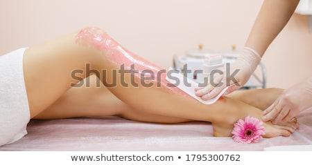Gyantázás láb férfi kéz viasz nő Stock fotó © AndreyPopov