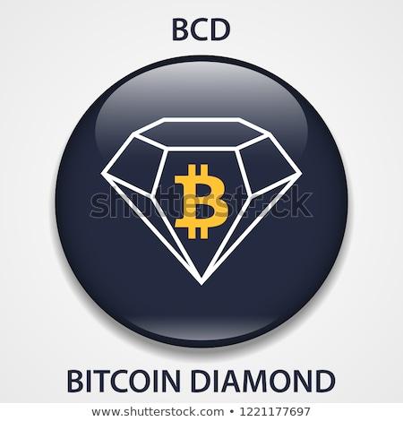 Bitcoinの ダイヤモンド アイコン コイン 市場 エンブレム ストックフォト © tashatuvango