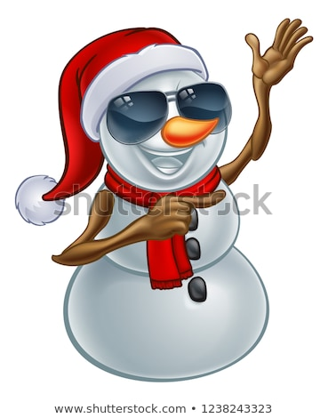 Cool Christmas Snowman in Sunglasses or Shades Stock photo © Krisdog