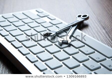 Dois chaves computador escritório Foto stock © mizar_21984