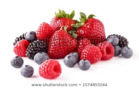 Bosbessen aardbeien witte restaurant eten reclame Stockfoto © ConceptCafe
